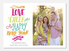 new years photo cards - Playful Cheer