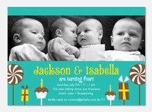 Twin Invitations - Birthday Fun