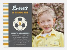 Soccer Ace - Boy Birthday Invitations