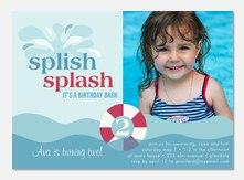 Girl Birthday Party Invitations - splash