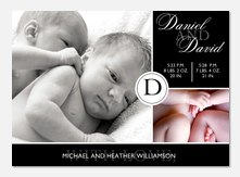 Their Initial - Twin Birth Announcements